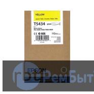 Картридж Epson T5434 с желтыми чернилами